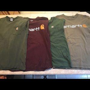 LOT of 4 Carhartt T-shirts